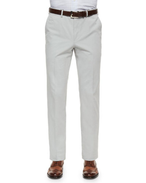 Cotton Cashmere Five-Pocket Pants, Stone