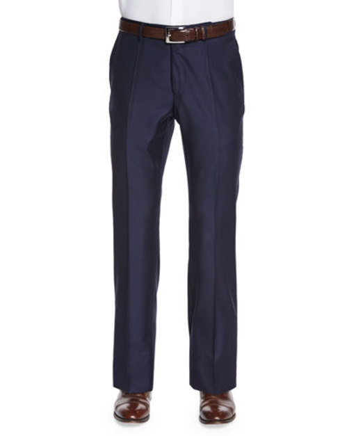 Super 150s Wool Cashmere Trousers, Navy