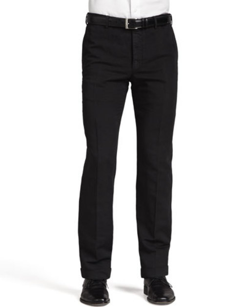 Chinolino Cotton Linen Trousers, Black