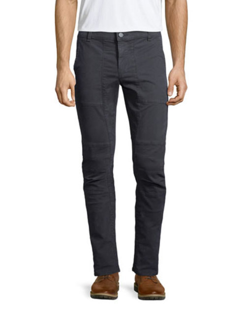 Stein Slim-Fit Moto Pants, Black