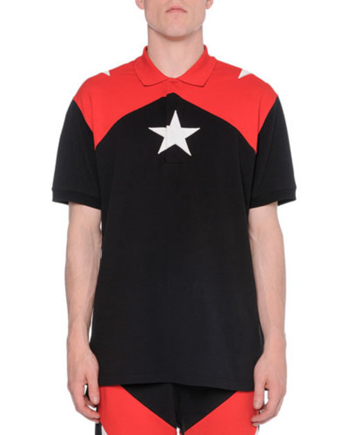 Star Colorblock Polo, Red