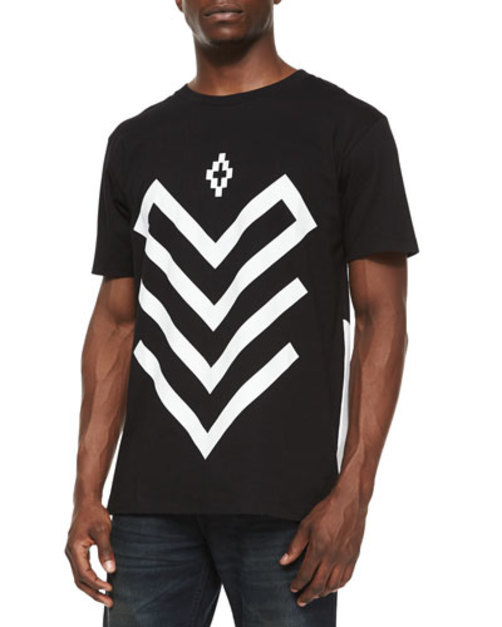 Arrow Graphic Short-Sleeve Tee, Black White
