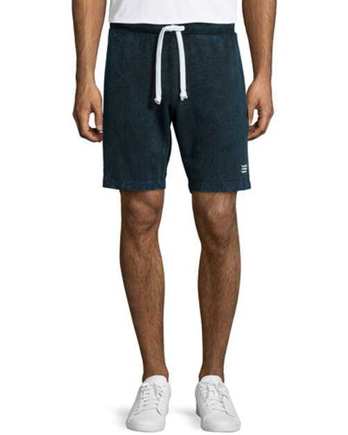 Solid Jersey Knit Sweat Shorts, Navy
