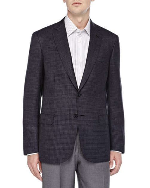 Micro Check Two-Button Jacket,