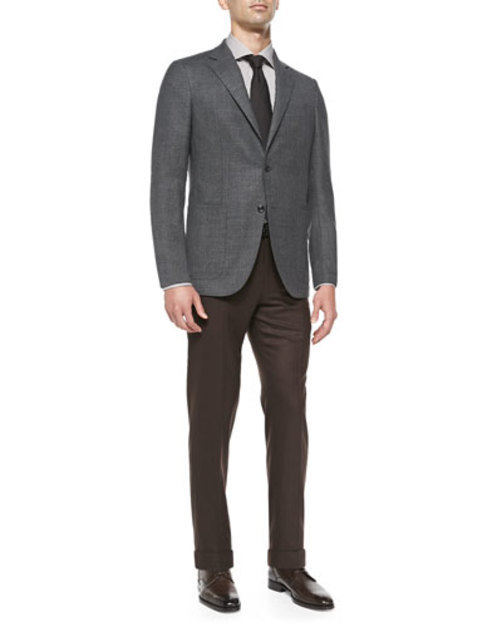 Blazer with Elbow Patches, Gray