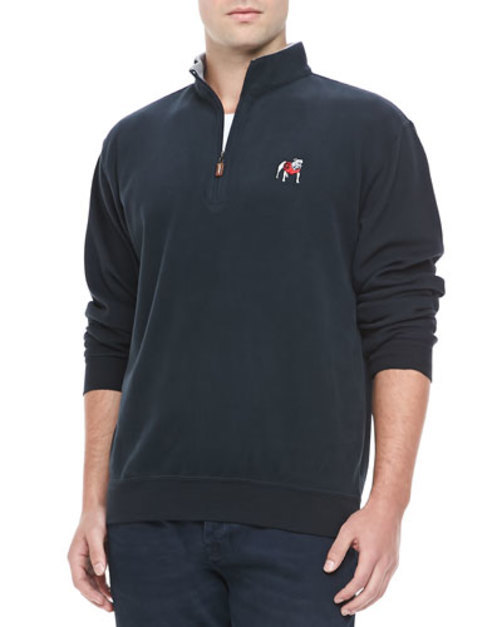 University of Georgia 1 4-Zip Fleece, Black