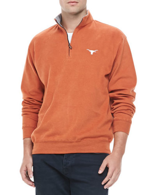 University of Texas Longhorn 1 4-Zip Fleece, Orange
