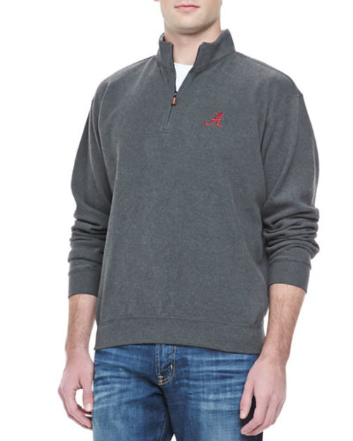 Alabama 1 4-Zip Fleece, Charcoal