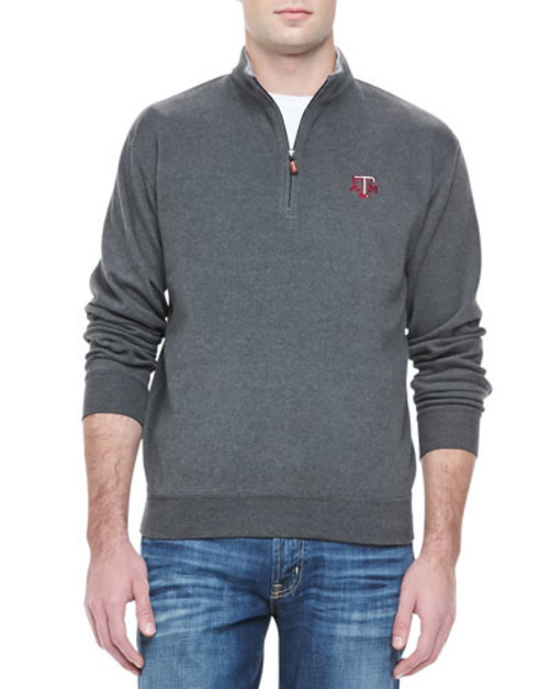 Texas A&M 1 4-Zip Fleece, Gray
