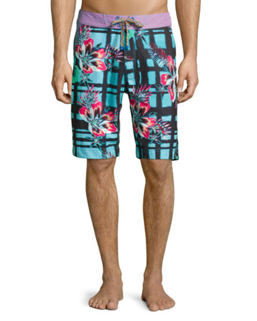 Multi-Body Surf Swim Trunks, Multicolor