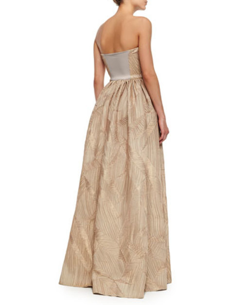 Mykel Strapless Shirred Gown