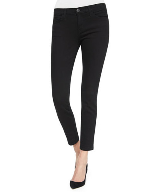 The Stiletto Cropped Jeans, Jet Black
