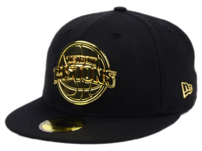 ニューエラ キャップ New Era Detroit Pistons NBA Current O'Gold 59FIFTY Cap Black Metallic Gold ブラック Metallic Gold ベースボールキャップ 帽子 野球帽