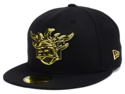 ニューエラ キャップ New Era Phoenix Suns NBA Current O'Gold 59FIFTY Cap Black Metallic Gold ブラック Metallic Gold ベースボールキャップ 帽子 野球帽