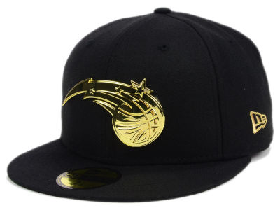 ニューエラ キャップ New Era Orlando Magic NBA Current O'Gold 59FIFTY Cap Black Metallic Gold ブラック Metallic Gold ベースボールキャップ 帽子 野球帽