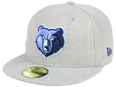 ニューエラ キャップ New Era Memphis Grizzlies NBA All Heather 59FIFTY Cap Heather Gray Heather Gray ベースボールキャップ 帽子 野球帽
