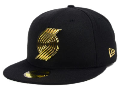 ニューエラ キャップ New Era Portland Trail Blazers NBA Current O'Gold 59FIFTY Cap Black Metallic Gold ブラック Metallic Gold ベースボールキャップ 帽子 野球帽