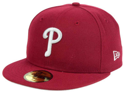 ニューエラ キャップ New Era Philadelphia Phillies MLB Cardnial Gray 59FIFTY Cap Cardinal Red Cardinal Red ベースボールキャップ 帽子 野球帽