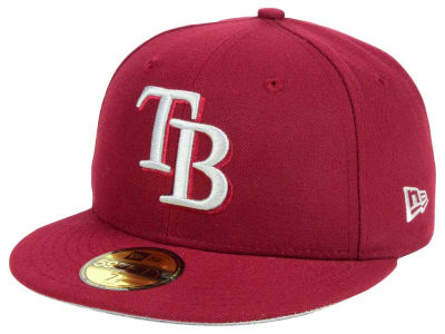 ニューエラ キャップ New Era Tampa Bay Rays MLB Cardnial Gray 59FIFTY Cap Cardinal Red Cardinal Red ベースボールキャップ 帽子 野球帽
