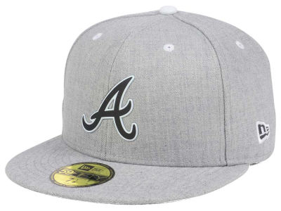 ニューエラ キャップ New Era Atlanta Braves MLB Dual Flect 59FIFTY Cap Heather Gray Heather Gray ベースボールキャップ 帽子 野球帽