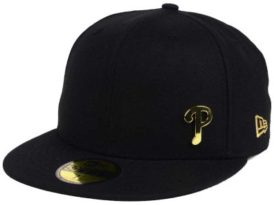 ニューエラ キャップ New Era Philadelphia Phillies MLB Flawless OGold 59FIFTY Cap Black Metallic Gold ブラック Metallic Gold ベースボールキャップ 帽子 野球帽