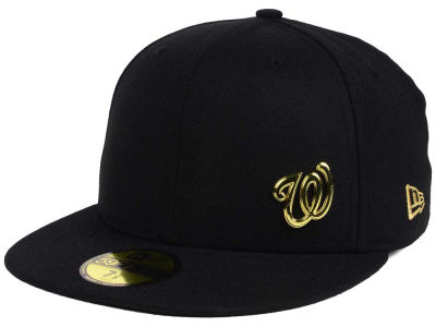 ニューエラ キャップ New Era Washington Nationals MLB Flawless OGold 59FIFTY Cap Black Metallic Gold ブラック Metallic Gold ベースボールキャップ 帽子 野球帽