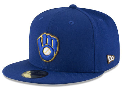 ニューエラ キャップ New Era Milwaukee Brewers MLB Classic Leather Outline 59FIFTY Cap RoyalBlue RoyalBlue ベースボールキャップ 帽子 野球帽