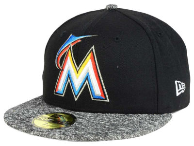 ニューエラ キャップ New Era Miami Marlins MLB Team Frenchie 59FIFTY Cap Black Heather Charcoal ブラック Heather Charcoal ベースボールキャップ 帽子 野球帽
