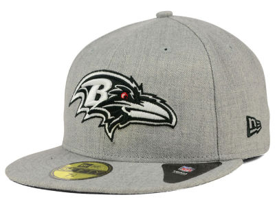 ニューエラ キャップ New Era Baltimore Ravens NFL Heather Black White 59FIFTY Cap Heather Gray Heather Gray ベースボールキャップ 帽子 野球帽