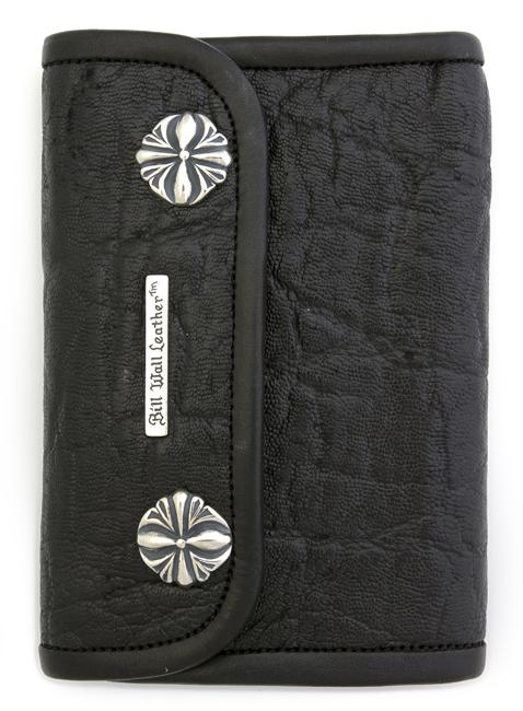 ビルウォールレザー BWL Bill Wall Leather W979 | MED LARGE CURRENCY Wallet - Elephant Skin.. One of a Kind Custom(1点物)