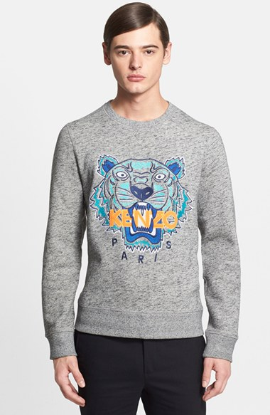 KENZO Embroidered Tiger Crewneck Sweatshirt 男性 メンズ セーター ニット