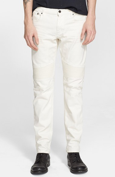 Belstaff 'Easthom' Slim Fit Moto Jeans (Natural White) 男性 メンズ パンツ ズボン ジーンズ