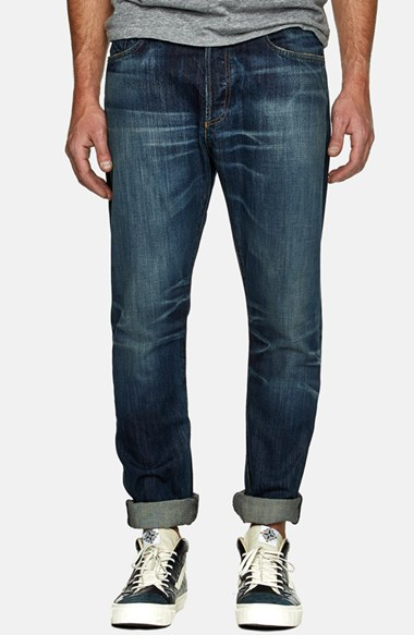 A Gold E Tapered Slim Fit Jeans (Monterey) 男性 メンズ パンツ ズボン ジーンズ