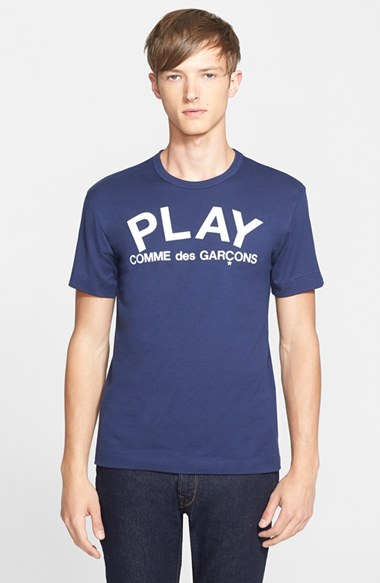 Comme des Garcons 'Play' Graphic T-Shirt 男性 メンズ Tシャツ