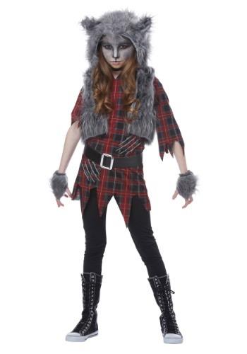 【ポイント最大29倍●お買い物マラソン限定!エントリー】Girls Werewolf コスチューム ハロウィン 子ども コスプレ 衣装 仮装 こども イベント 子ども パーティ ハロウィーン 学芸会