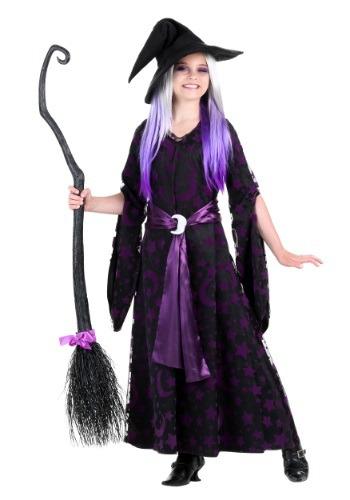 【ポイント最大29倍●お買い物マラソン限定!エントリー】Girls Purple Moon Witch コスチューム ハロウィン 子ども コスプレ 衣装 仮装 こども イベント 子ども パーティ ハロウィーン 学芸会