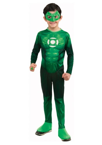 キッズ デラックス Green Lantern コスチューム クリスマス ハロウィン 子ども コスプレ 衣装 仮装 こども イベント 子ども パーティ ハロウィーン 学芸会