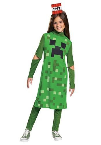 マインクラフト 女の子 Creeper Classic コスチューム クリスマス ハロウィン 子ども コスプレ 衣装 仮装 こども イベント 子ども パーティ ハロウィーン 学芸会