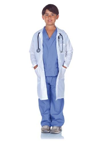 チャイルド Doctor Scrubs with Lab Coat コスチューム クリスマス ハロウィン 子ども コスプレ 衣装 仮装 こども イベント 子ども パーティ ハロウィーン 学芸会