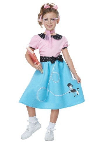 【ポイント最大29倍●お買い物マラソン限定!エントリー】Girls Blue 50's Sock Hop Dress コスチューム ハロウィン 子ども コスプレ 衣装 仮装 こども イベント 子ども パーティ ハロウィーン 学芸会