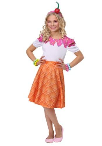 Ice Cream Cone 女の子 コスチューム クリスマス ハロウィン 子ども コスプレ 衣装 仮装 こども イベント 子ども パーティ ハロウィーン 学芸会