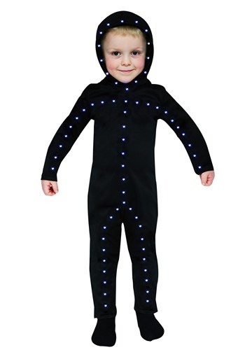 Lighted 幼児 Stick Man コスチューム クリスマス ハロウィン 子ども コスプレ 衣装 仮装 こども イベント 子ども パーティ ハロウィーン 学芸会