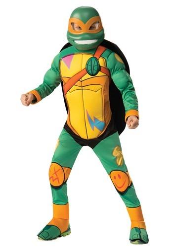 【ポイント最大29倍●お買い物マラソン限定!エントリー】Teenage Mutant 忍者 Turtle Michelangelo デラックス キッズ コスチューム ハロウィン 子ども コスプレ 衣装 仮装 こども イベント 子ども パーティ ハロウィーン 学芸会