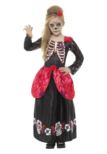 【ポイント最大29倍●お買い物マラソン限定!エントリー】Day of the Dead 女の子's コスチューム ハロウィン 子ども コスプレ 衣装 仮装 こども イベント 子ども パーティ ハロウィーン 学芸会