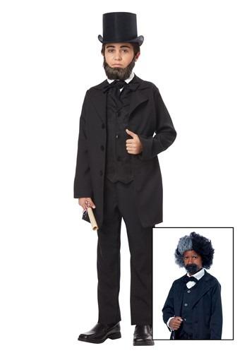 ボーイズ Abraham Lincoln/ Frederick Douglass コスチューム クリスマス ハロウィン 子ども コスプレ 衣装 仮装 こども イベント 子ども パーティ ハロウィーン 学芸会