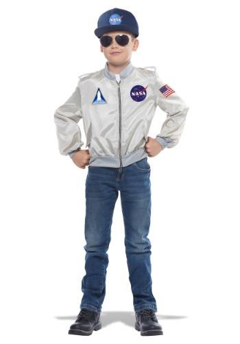 チャイルド's NASA Flight Jacket コスチューム クリスマス ハロウィン 子ども コスプレ 衣装 仮装 こども イベント 子ども パーティ ハロウィーン 学芸会