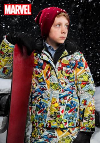 【ポイント最大29倍●お買い物マラソン限定!エントリー】キッズ マーベル Comic Print Snow Jacket ハロウィン 子ども コスプレ 衣装 仮装 こども イベント 子ども パーティ ハロウィーン 学芸会