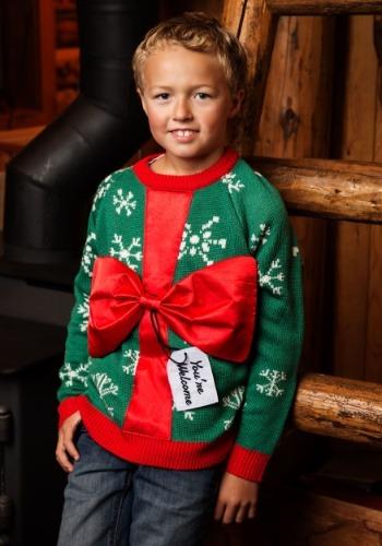 キッズ Present Ugly Christmas Sweater クリスマス ハロウィン 子ども コスプレ 衣装 仮装 こども イベント 子ども パーティ ハロウィーン 学芸会