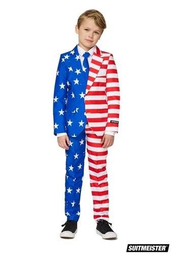 【ポイント最大29倍●お買い物マラソン限定!エントリー】The 男の子s USA Flag Suitmeister Suit コスチューム ハロウィン 子ども コスプレ 衣装 仮装 こども イベント 子ども パーティ ハロウィーン 学芸会