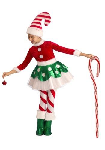 【ポイント最大29倍●お買い物マラソン限定!エントリー】Candy Cane Elf Princess コスチューム ハロウィン 子ども コスプレ 衣装 仮装 こども イベント 子ども パーティ ハロウィーン 学芸会